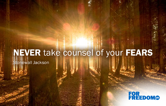 """Never take counsel of your fears"" (Stonewall Jackson)"